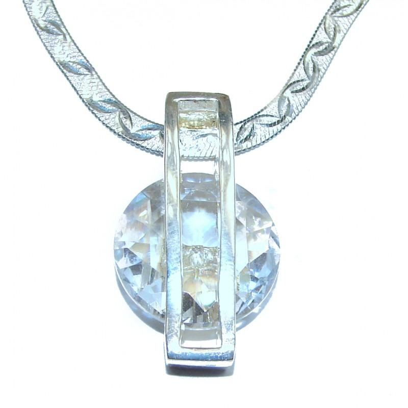 White Topaz .925 Sterling Silver Handcrafted Necklace