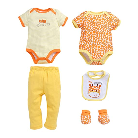 Giraffe Onesie Set 5pc