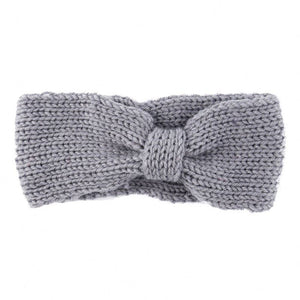 Girls Knit Crochet Top Knot Headband