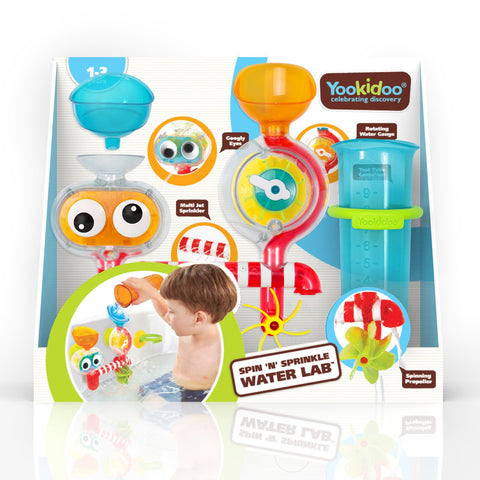 Yookidoo Spin 'N' Sprinkle Water Lab in Packaging
