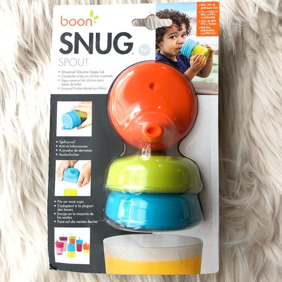 Boon Snug Spout Silicone Sippy Lid