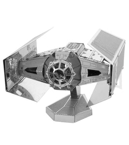 Darth Vader's Tie Advanced X1 Starfighter Star Wars Metal Earth 3D Model Kit