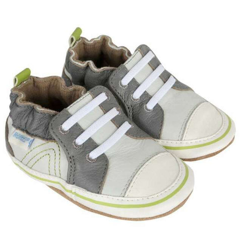 Robeez Soft Sole Shoes Grey/Green