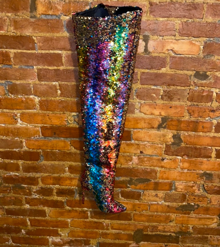 OVER THE RAINBOW THIGH HIGH BOOT( ESTIMATE SHIP DATE 9/30-10/5)