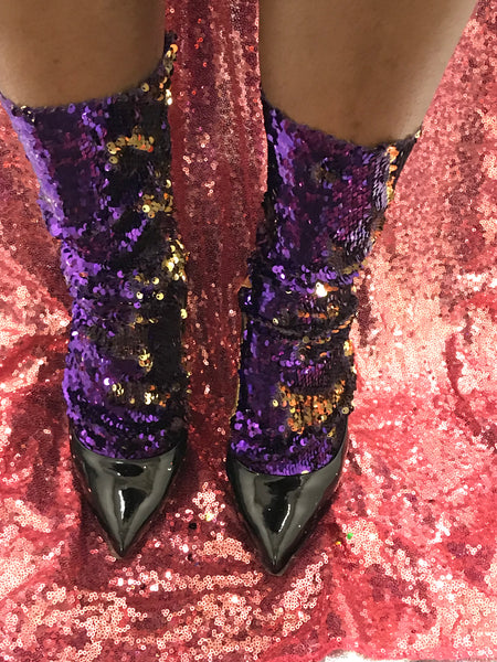 SEQUINS SLAY SOCKS