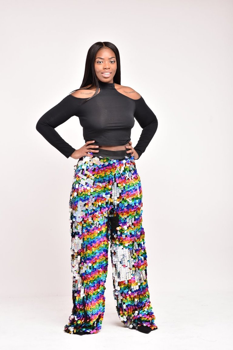 DISCO QUEEN PALLAZO PANTS