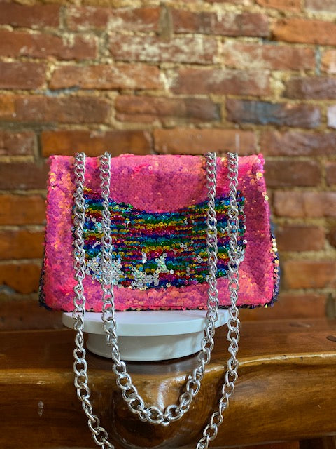 BUBBLE GUM CHAIN BAG