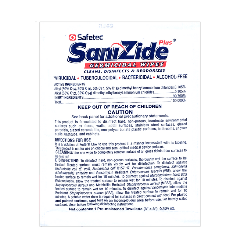 CruisePaks SaniZide Plus® Germicidal Wipe (Surface Disinfectant) CruisePaks