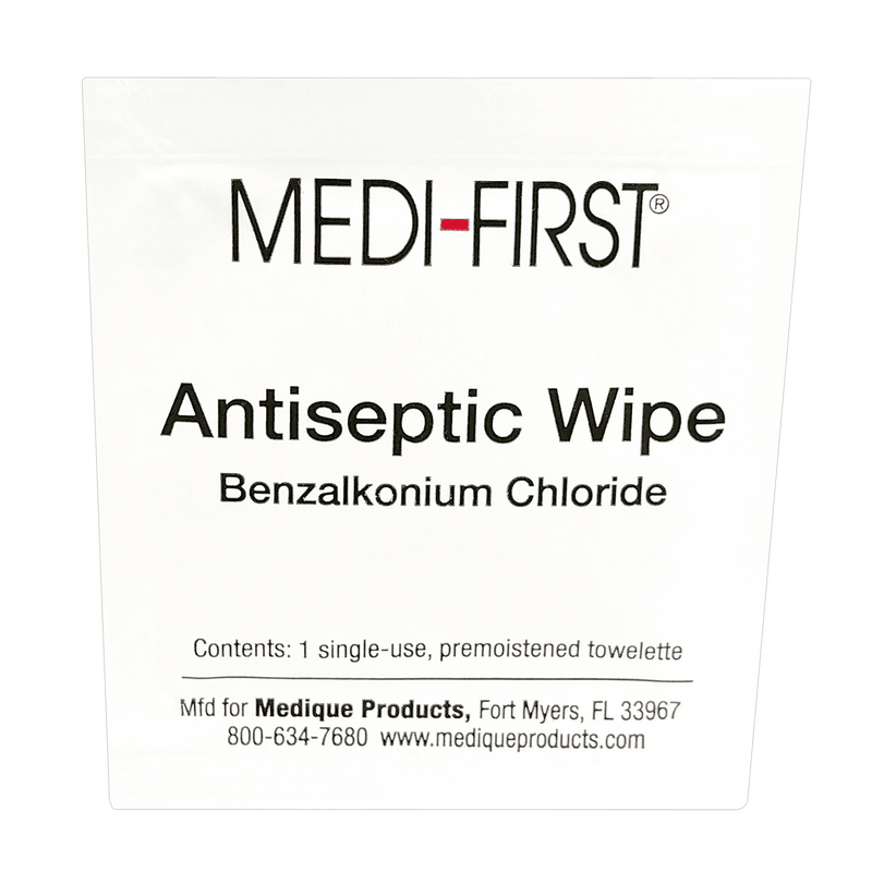 Medique Antiseptic Wipe, Benzalkonium Chloride Solution, Extra Large Wipe CruisePaks