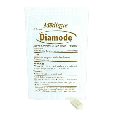 Medique Diamode Upset Stomach & Diarrhea Relief (1 Per Packet) CruisePaks