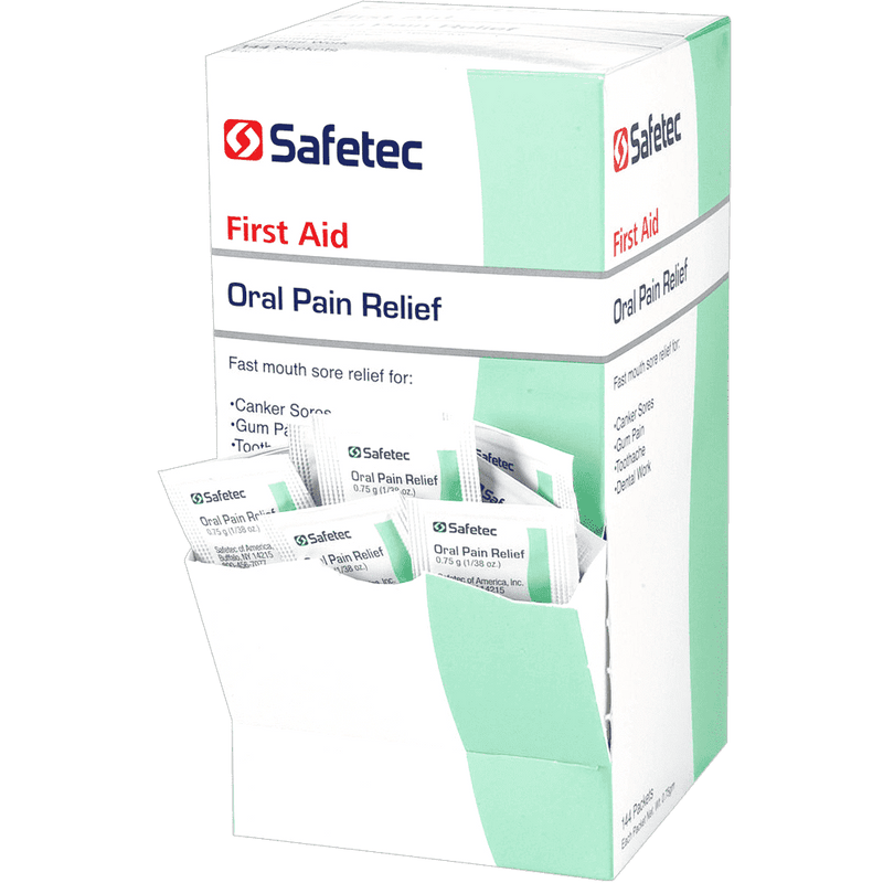 Safetec Oral Pain Relief Gel, .75 Gram Packets CruisePaks