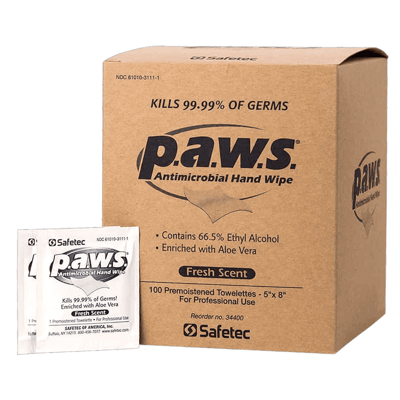 Safetec P.A.W.S Antimicrobial Hand Wipe CruisePaks
