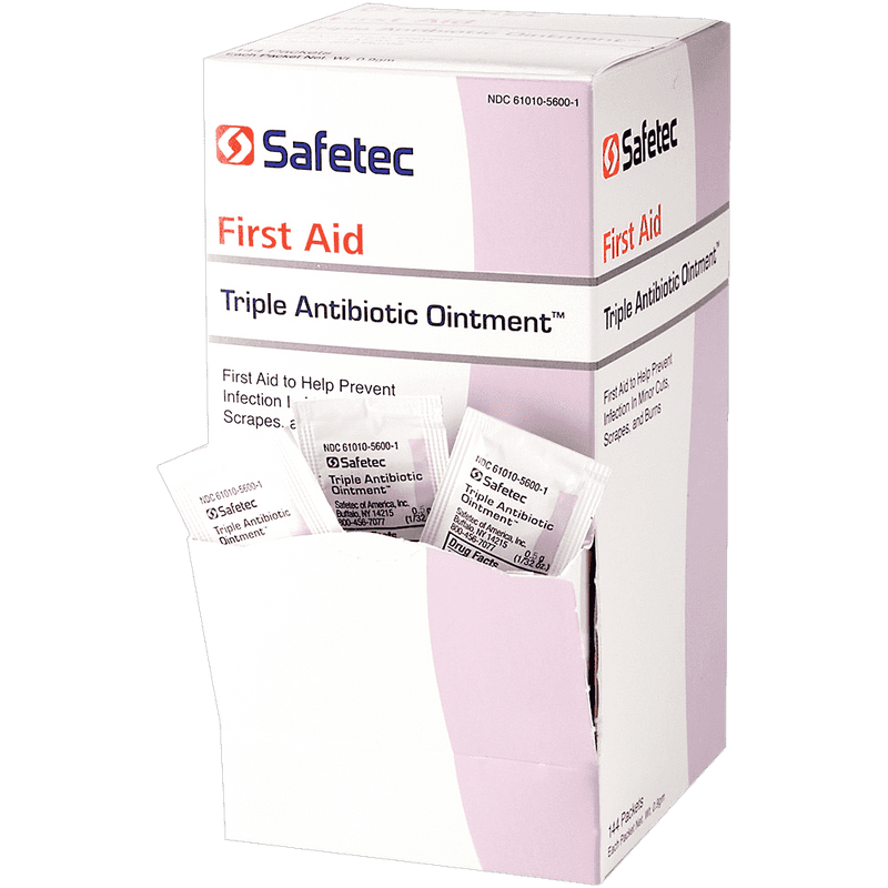 Safetec Triple Antibiotic Ointment, Infection Protection .5 Gram Packets CruisePaks