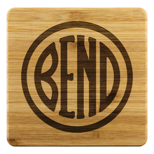 Load image into Gallery viewer, Bend Logo Bamboo Coasters Bamboo Coaster - 4pc - The Northwest Store