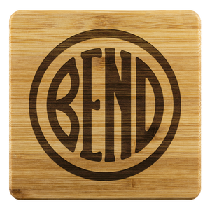 Bend Logo Bamboo Coasters Bamboo Coaster - 4pc - The Northwest Store