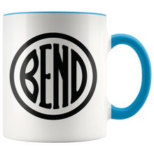 Load image into Gallery viewer, Bend Logo Ceramic Accent Mug Blue - The Northwest Store