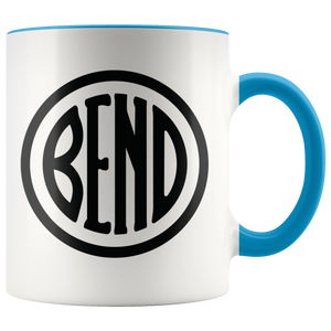 Bend Logo Ceramic Accent Mug Blue - The Northwest Store