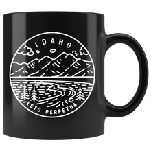Load image into Gallery viewer, State of Idaho Coffee Mug Black - The Northwest Store