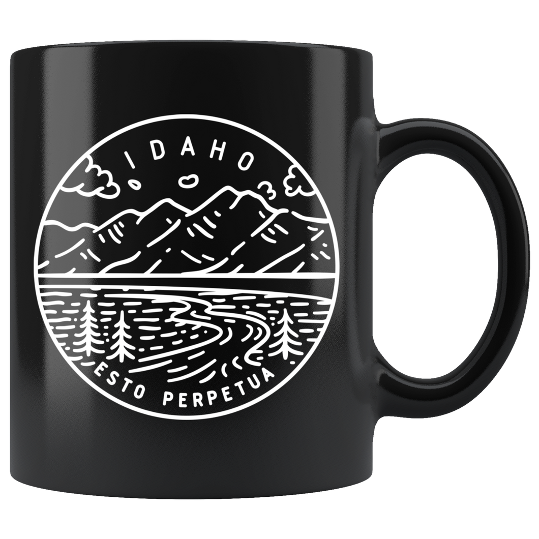 State of Idaho Coffee Mug Black - The Northwest Store