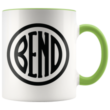 Load image into Gallery viewer, Bend Logo Ceramic Accent Mug Green - The Northwest Store