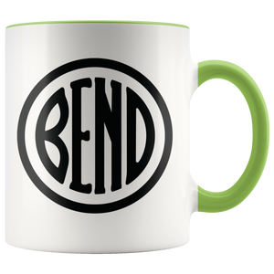 Bend Logo Ceramic Accent Mug Green - The Northwest Store