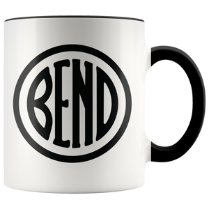 Bend Logo Ceramic Accent Mug Black - The Northwest Store