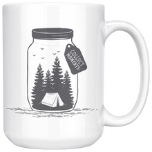 Load image into Gallery viewer, Collect Moments Not Things Large Ceramic Mug white - The Northwest Store