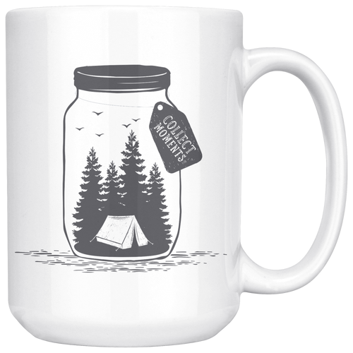 Collect Moments Not Things Large Ceramic Mug white - The Northwest Store