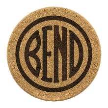 Load image into Gallery viewer, Bend Logo Cork Coasters Round Cork Coaster - 4pc - The Northwest Store