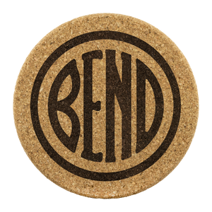 Bend Logo Cork Coasters Round Cork Coaster - 4pc - The Northwest Store