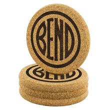 Load image into Gallery viewer, Bend Logo Cork Coasters - The Northwest Store