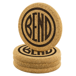 Bend Logo Cork Coasters - The Northwest Store