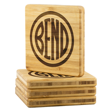 Load image into Gallery viewer, Bend Logo Bamboo Coasters - The Northwest Store