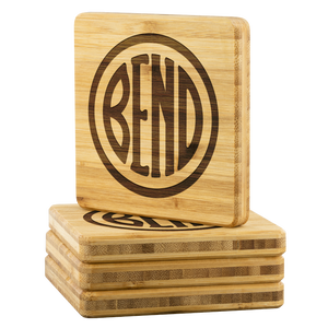 Bend Logo Bamboo Coasters - The Northwest Store