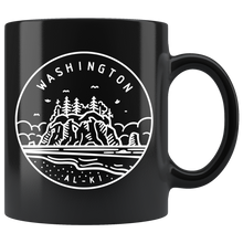 Load image into Gallery viewer, State of Washington Coffee Mug Black - The Northwest Store
