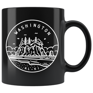 State of Washington Coffee Mug Black - The Northwest Store