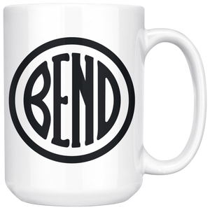 Bend Logo Large Ceramic Coffee Mug white - The Northwest Store