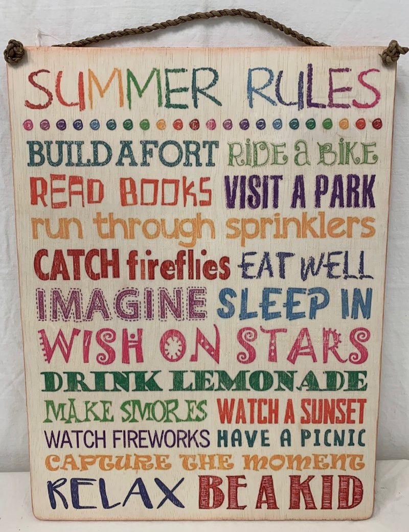 Summer Rules Sign