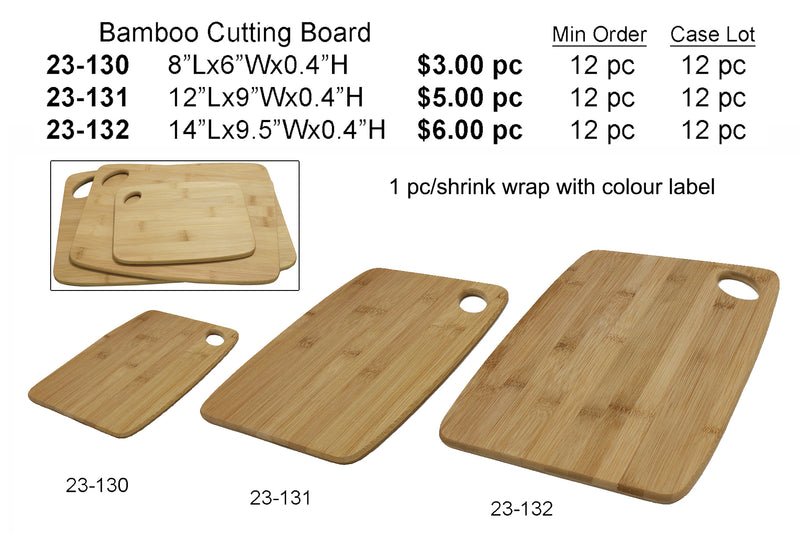 bamboo cutting board 8x6