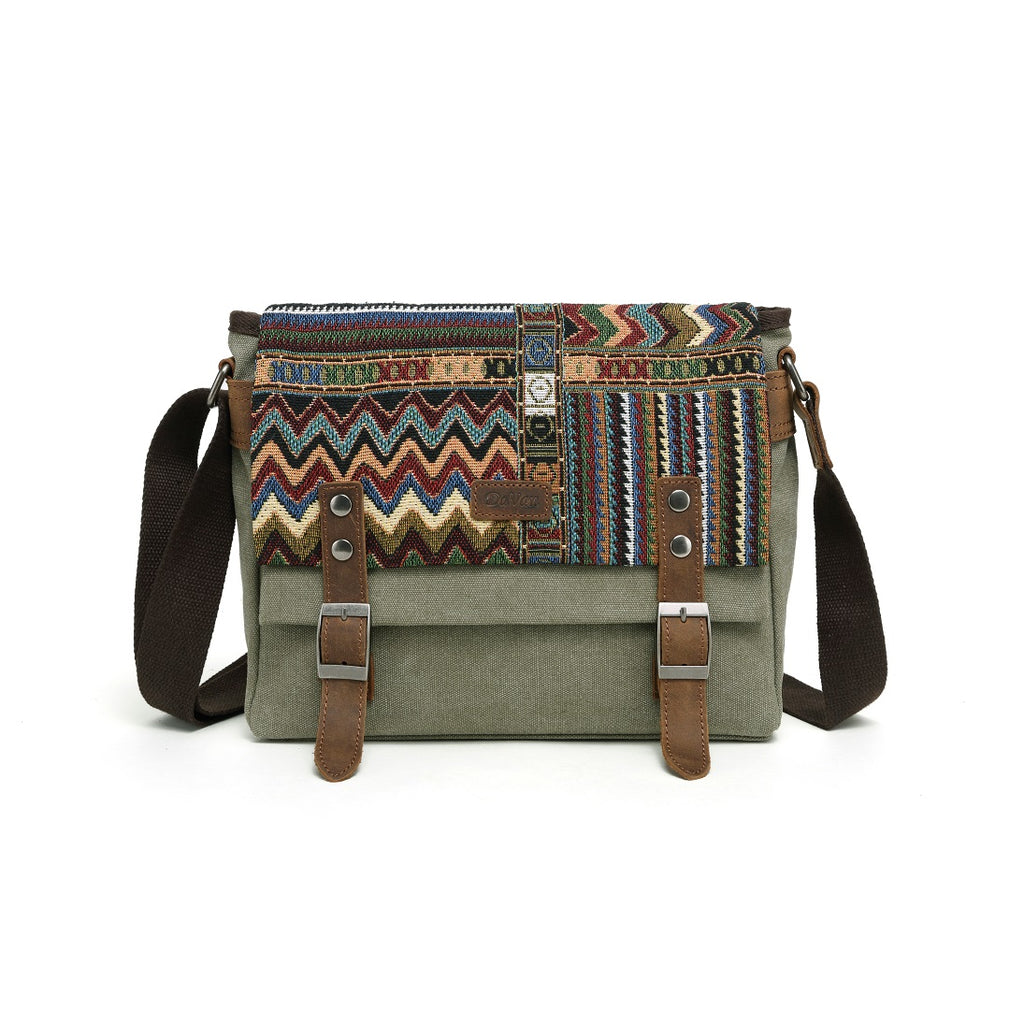 Small Messenger Bag w/Aztec Design