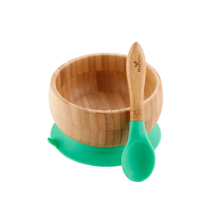 Baby Bamboo Suction Cup Bowl and Spoon
