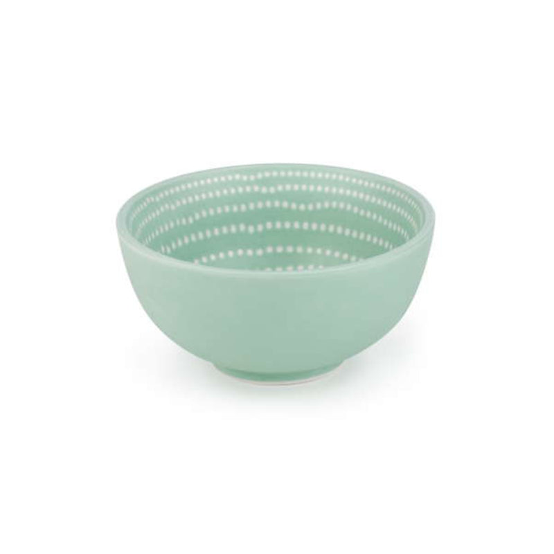 Small Bowl in White & Aqua