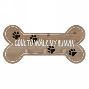 Gone to Walk My Human Wall Hook X3