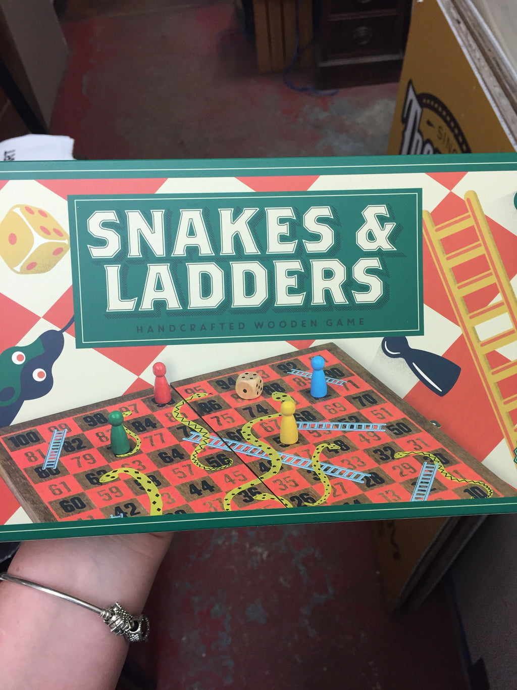 Snakes & Ladders Wood Game