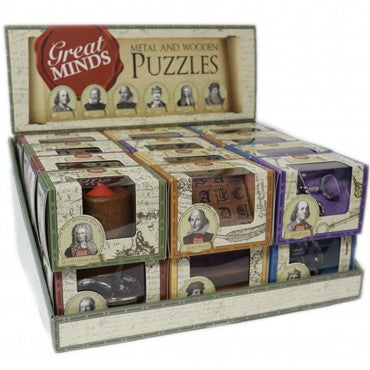 Metal and Wood Professor Puzzles