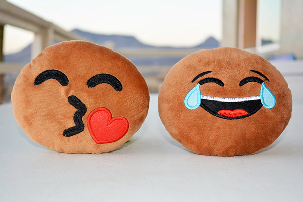 2-Pack African American Emoji Pillows