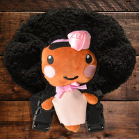 African American Backpack Doll (Pink Dress)