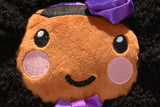 African American Backpack Doll (Purple Dress) Closeup