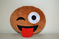 African American Emoji Pillow - Tongue Out