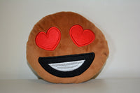 African American Emoji Pillow - Heart Eyes